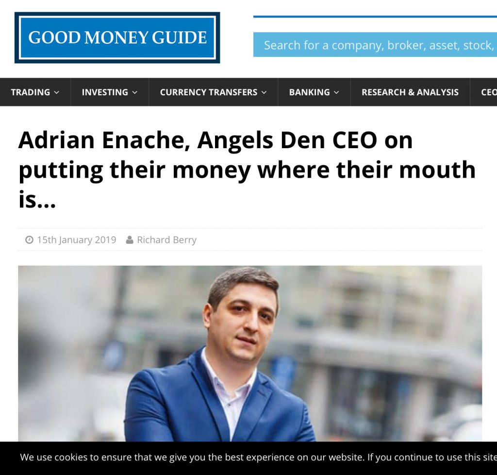 Adrian Enache Angels Den Funding Interview