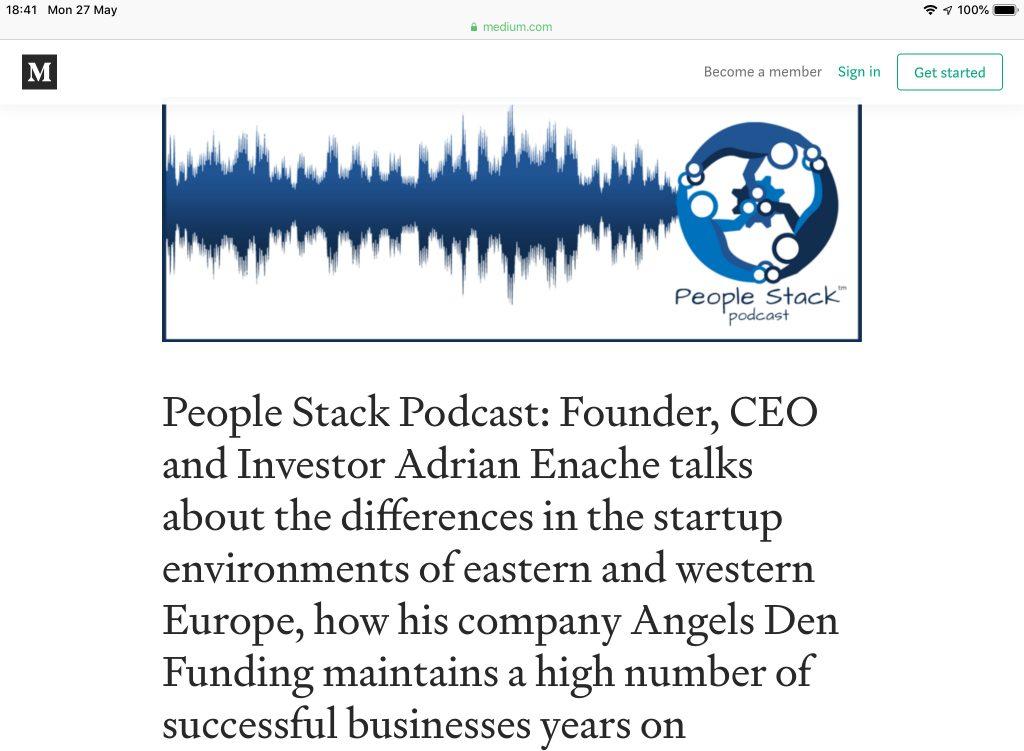 Adrian Enache Angels Den Podcast